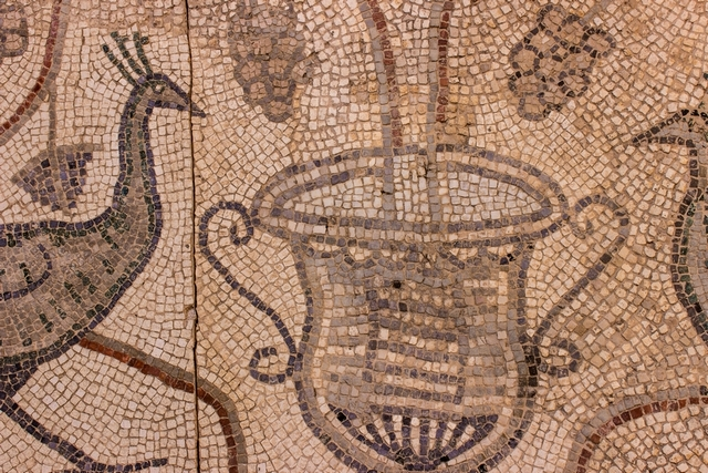Detail of Early Christian mosaic, 6th c. (Stari Grad Museum)