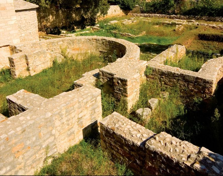 Archaeological remains of the Early Christian twin church of St Mary and St John, 6th c.
